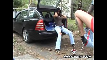 Amateur milf gets busy with a hot male