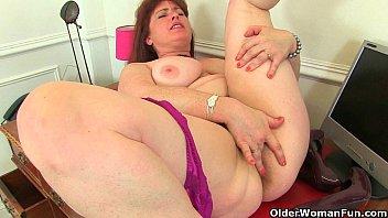 Elder pussy Svatava fake cock masturbation