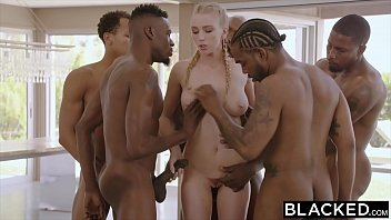 Gang Bang for blond Russian Girl