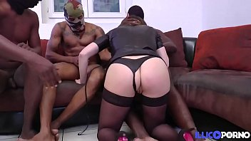Gangbang and cumshots over redheads butt chee