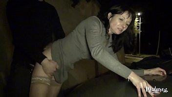 Hot secretary public anal