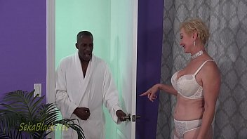 Hot white MILF fucked hard by a BBC