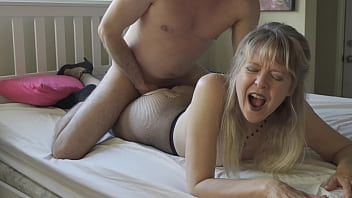 Mature Lady is Giving Her Friend Handjob Lesson