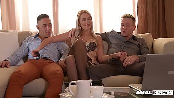 Nubile Films - Small tit babe fucks her lover till he cums in her mouth