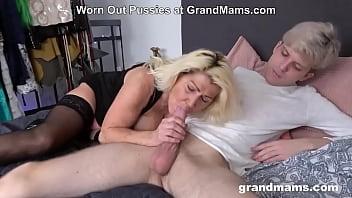 Sensational mature blonde enjoys hardcore dicking