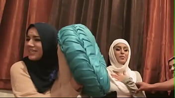 Sexy blonde teen scissor Desperate Arab