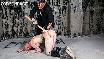 Submissive BDSM sex with anal hooker