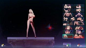 Une blonde en mini robe au cinéma