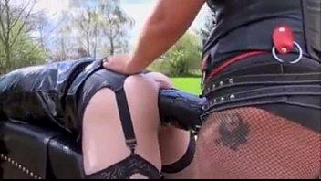 Violetta stretches her butt